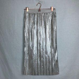 Bar III metallic midi skirt